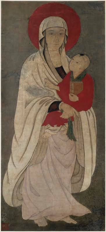 Chinese Madonna and Child Scroll