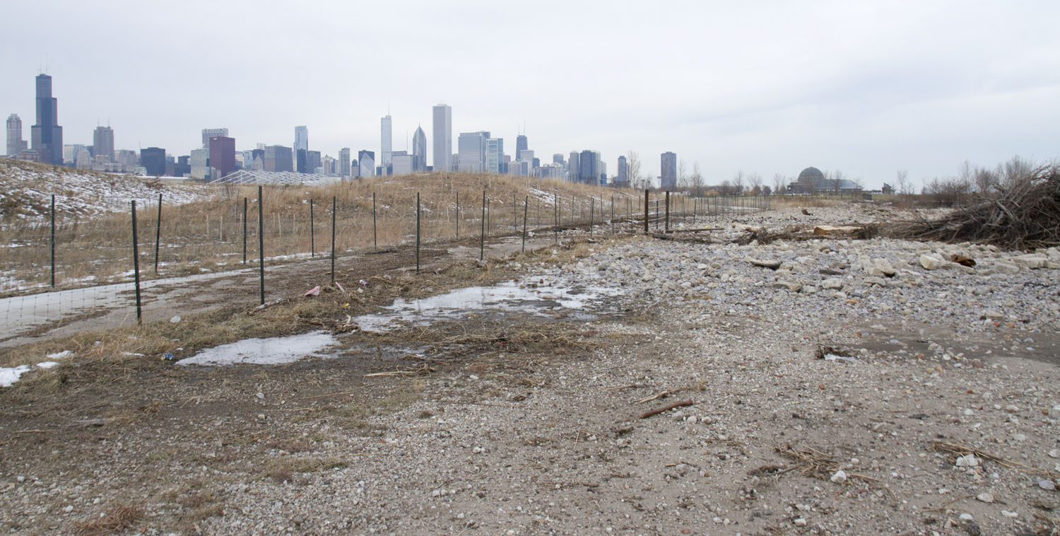 Storm damage Northerly Island