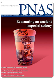 Cover article in the Nov 29, 2005 edition of the Proceedings of the National Academy of Sciences.