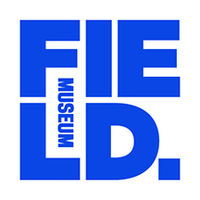 A square Field Museum logo in bright blue and bold font, with letters F, I, E stacked over L, D.