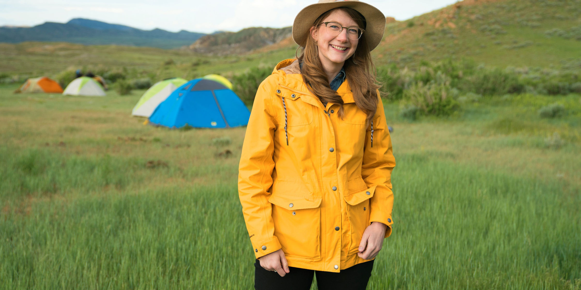 Emily Graslie, host of the Brain Scoop and Prehistoric Road Trip poses in a field outside Hanna, Wyoming.