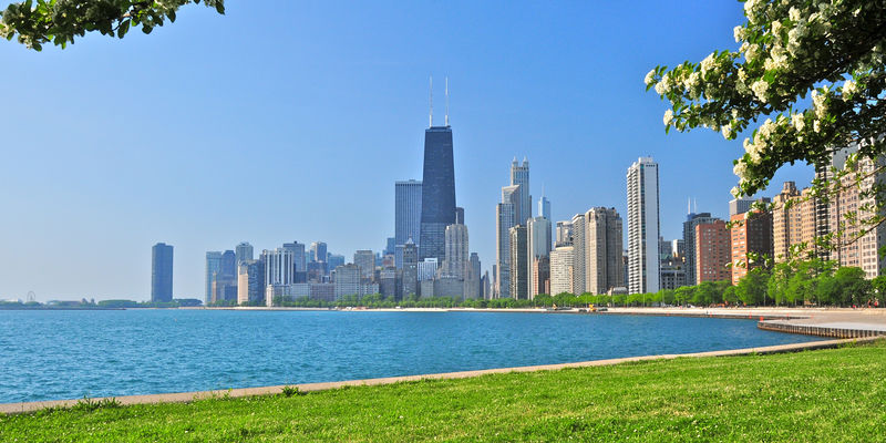 View of Chicago lakefront
