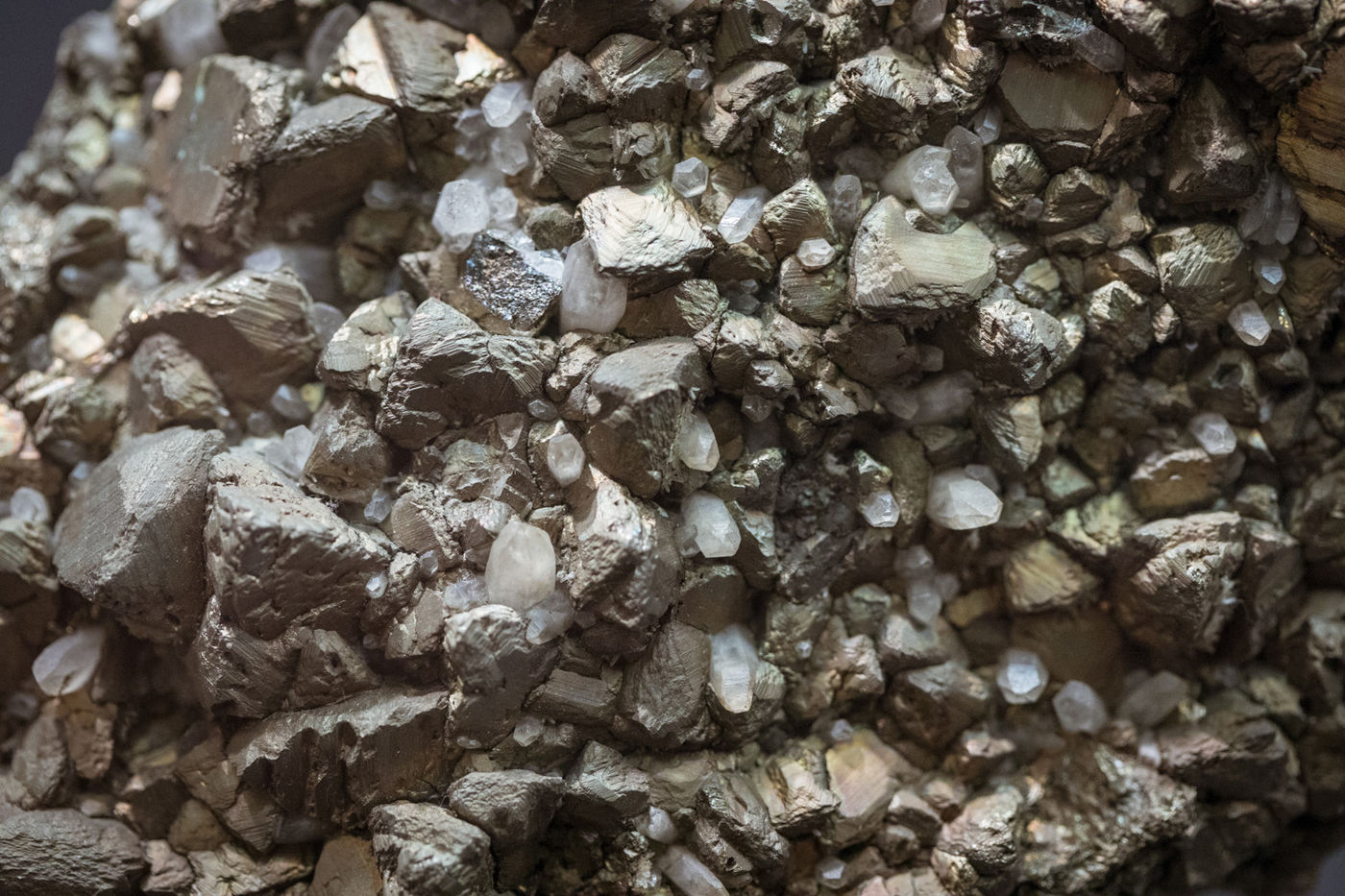 A detailed view of a mineral.