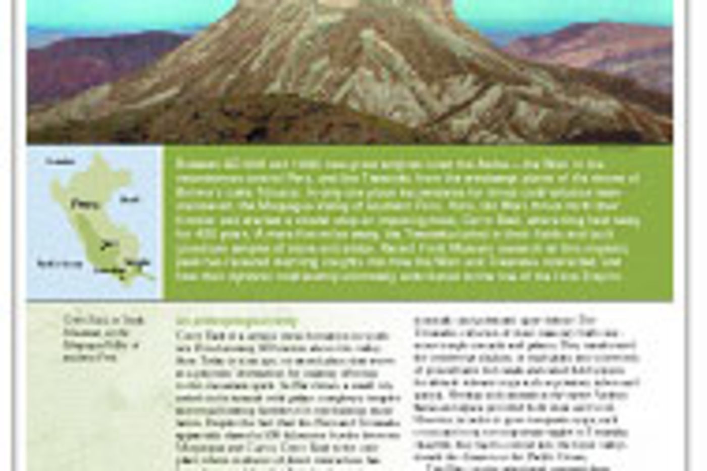 Article in the Summer 2003 issue of In The Field magazine.