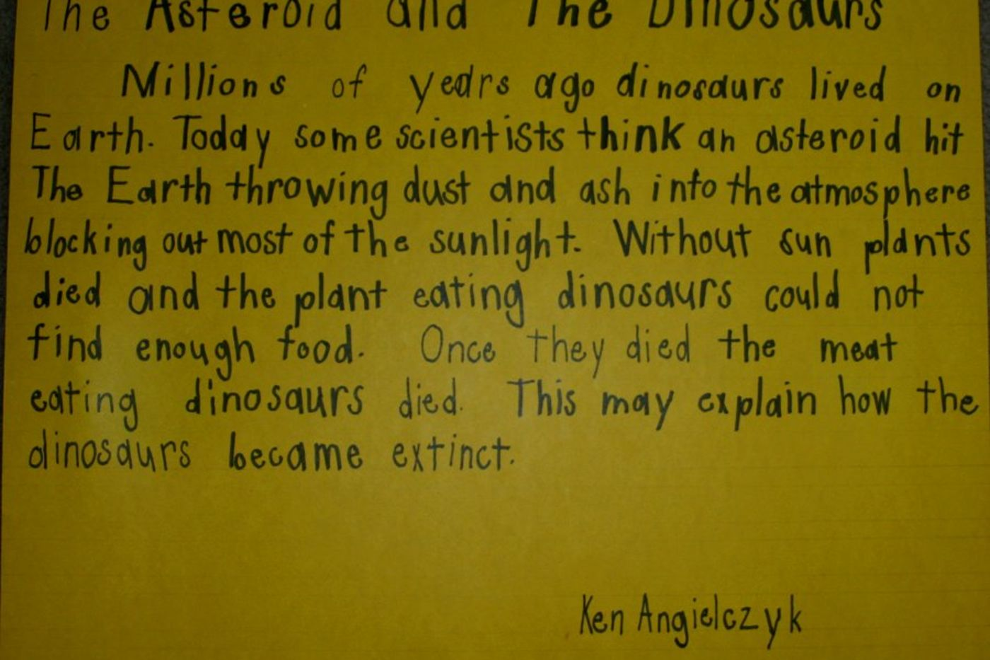 From First Grade to the Field Museum: A Paleontologist's
