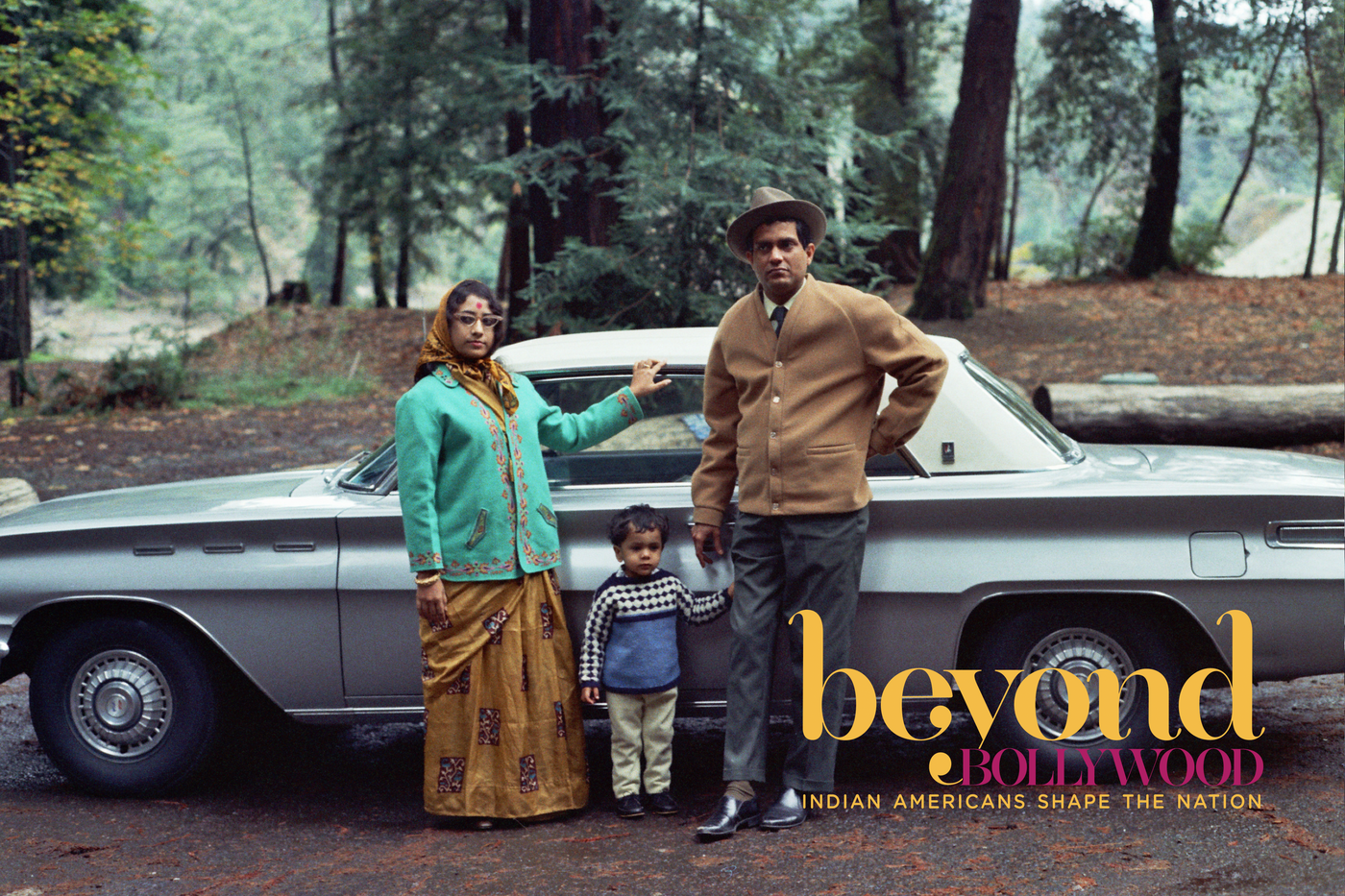 Decorated Indian tabla player Pandit Shankar Ghosh and noted Indian classical vocalist Shrimati Sanjukta Ghosh with Vikram (Boomba) Ghosh at Samuel P. Taylor State Park, Lagunita, Calif., ca. 1970.